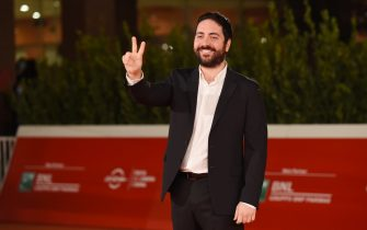 """ROME, ITALY - OCTOBER 23: Director Matteo Rovere attends the red carpet of the movie """"Romulus""""  during the 15th Rome Film Festival on October 23, 2020 in Rome, Italy. (Photo by Stefania M. D'Alessandro/Getty Images for RFF)"""