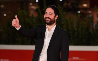 """ROME, ITALY - OCTOBER 23: Director Matteo Rovere attends the red carpet of the movie """"Romulus""""  during the 15th Rome Film Festival on October 23, 2020 in Rome, Italy. (Photo by Daniele Venturelli/WireImage,)"""
