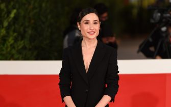 """ROME, ITALY - OCTOBER 23: Marianna Fontana attends the red carpet of the movie """"Romulus""""  during the 15th Rome Film Festival on October 23, 2020 in Rome, Italy. (Photo by Daniele Venturelli/WireImage,)"""