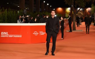 """ROME, ITALY - OCTOBER 23: Andrea Arcangeli attends the red carpet of the movie """"Romulus""""  during the 15th Rome Film Festival on October 23, 2020 in Rome, Italy. (Photo by Stefania M. D'Alessandro/Getty Images for RFF)"""