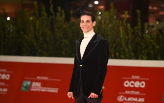 """ROME, ITALY - OCTOBER 23: Francesco Di Napoli attends the red carpet of the movie """"Romulus""""  during the 15th Rome Film Festival on October 23, 2020 in Rome, Italy. (Photo by Stefania M. D'Alessandro/Getty Images for RFF)"""