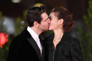 """ROME, ITALY - OCTOBER 21:  Giampaolo Morelli and Gloria Bellicchi attend the red carpet of the movie """"Maledetta Primavera""""  during the 15th Rome Film Festival on October 21, 2020 in Rome, Italy. (Photo by Daniele Venturelli/WireImage,)"""