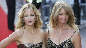 """LONDON - JULY 20:  Kate Hudson and Goldie Hawn arrive at the UK Premiere of """"Skeleton Key"""" at Vue West End on July 20, 2005 in London, England.  (Photo by MJ Kim/Getty Images)"""