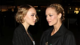 LONDON, ENGLAND - OCTOBER 12:  Lily-Rose Melody Depp and Vanessa Paradis attending the Chanel Exhibition Party at the Saatchi Gallery on October 12, 2015 in London, England.  (Photo by Mark Robert Milan/GC Images)