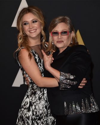 HOLLYWOOD, CA - NOVEMBER 14:  Actresses Carrie Fisher (L) and Billie Catherine Lourd attend the Academy of Motion Picture Arts and Sciences' 7th annual Governors Awards at The Ray Dolby Ballroom at Hollywood & Highland Center on November 14, 2015 in Hollywood, California.  (Photo by Kevin Winter/Getty Images)