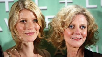 """LOS ANGELES - JUNE 18:  Actress Gwyneth Paltrow (L) and her mother actress Blythe Danner pose at the 2004 Crystal & Lucy Awards - """"A Family Affair: Women in Film Celebrates The Paltrow Family"""" at the Century Plaza Hotel on June 18, 2004 in Los Angeles, California. (Photo by Kevin Winter/Getty Images)"""