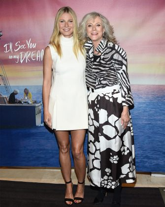 """WEST HOLLYWOOD, CA - MAY 07: Actress Gwyneth Paltrow (L) and actress Blythe Danner arrive at the screening of """"I'll See You In My Dreams"""" at The London Screening Room on May 7, 2015 in West Hollywood, California.  (Photo by Michael Buckner/Getty Images)"""