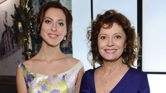 NEW YORK, NY - SEPTEMBER 11:  Actresses Eva Amurri and Susan Sarandon pose during Mercedes-Benz Fashion Week Spring 2012 at Lincoln Center on September 11, 2011 in New York City.  (Photo by Michael Buckner/Getty Images for Mercedes-Benz Fashion Week)