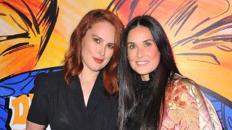 LOS ANGELES, CA - NOVEMBER 16: Rumer Willis (L) and Demi Moore attend Christian Louboutin and Sabyasachi Unveil Capsule Collection at Just One Eye on November 16, 2017 in Los Angeles, California.  (Photo by Jerod Harris/Getty Images for Christian Louboutin)