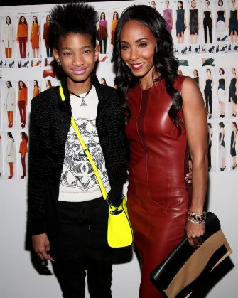 NEW YORK, NY - FEBRUARY 12:  Willow Smith (L) and Jada Pinkett Smith pose backstage at the Narciso Rodriguez Fall 2013 fashion show during Mercedes-Benz Fashion Week at Sir Stage37 on February 12, 2013 in New York City.  (Photo by Astrid Stawiarz/Getty Images)