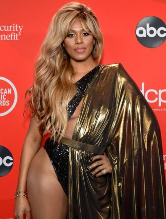 LOS ANGELES, CALIFORNIA - NOVEMBER 22: In this image released on November 22, Laverne Cox attends the 2020 American Music Awards at Microsoft Theater on November 22, 2020 in Los Angeles, California. (Photo by Emma McIntyre /AMA2020/Getty Images for dcp)