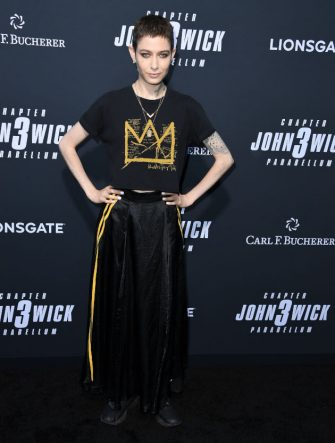 """HOLLYWOOD, CALIFORNIA - MAY 15: Asia Kate Dillon arrives at the Special Screening Of Lionsgate's """"John Wick: Chapter 3 - Parabellum""""  at TCL Chinese Theatre on May 15, 2019 in Hollywood, California. (Photo by Steve Granitz/WireImage)"""