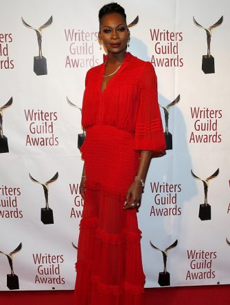 NEW YORK, NEW YORK - FEBRUARY 01: Dominique Jackson attends the 72nd Writers Guild Awards at Edison Ballroom on February 01, 2020 in New York City. (Photo by Dominik Bindl/WireImage)