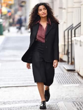 NEW YORK, NEW YORK - SEPTEMBER 25: Indya Moore seen on September 25, 2020 in New York City. (Photo by Noam Galai/GC Images)