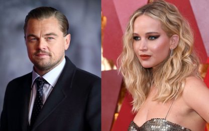 Don't Look Up: le foto di Jennifer Lawrence e Leonardo DiCaprio