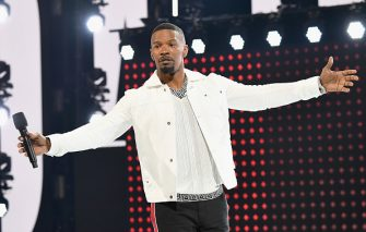 LOS ANGELES, CA - JUNE 24:  Host Jamie Foxx speaks onstage at the 2018 BET Awards at Microsoft Theater on June 24, 2018 in Los Angeles, California.  (Photo by Paras Griffin/VMN18/Getty Images for BET)
