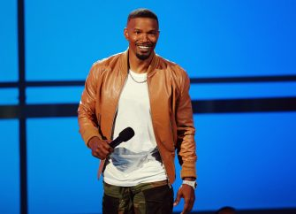 LOS ANGELES, CA - JUNE 24:  Host Jamie Foxx speaks onstage at the 2018 BET Awards at Microsoft Theater on June 24, 2018 in Los Angeles, California.  (Photo by Leon Bennett/Getty Images)