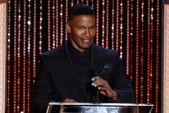 BEVERLY HILLS, CA - NOVEMBER 01:  Actor Jamie Foxx speaks onstage during the 19th Annual Hollywood Film Awards at The Beverly Hilton Hotel on November 1, 2015 in Beverly Hills, California.  (Photo by Lester Cohen/WireImage)