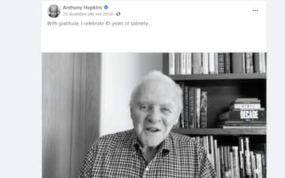 """Anthony Hopkins festeggia 45 anni senza alcol: """"Mi stavo uccidendo"""""""