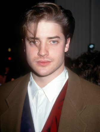 BEVERLY HILLS, CA - DECEMBER 13:  Actor Brendan Fraser arrives during The 52nd Annual Golden Apple Awards on December 13, 1992 at the Beverly Hilton Hotel in Beverly Hills, California.  (Photo by Ron Davis/Getty Images)