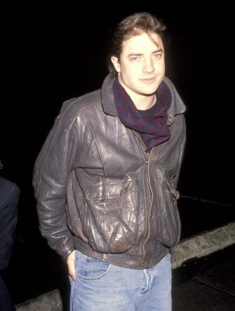 "Brendan Fraser during ""Love Field"" Los Angeles Premiere at Mann Plaza Theatre in Westwood, California, United States. (Photo by Ron Galella/Ron Galella Collection via Getty Images)"