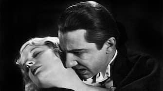 "Dracula. Bela Lugosi and Frances Dade in the movie â  Dracula"", 1931"