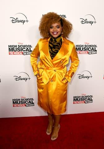 "BURBANK, CALIFORNIA - NOVEMBER 01: Dara Renee arrives at the premiere of Disney+'s ""High School Musical: The Musical: The Series"" at Walt Disney Studio Lot on November 01, 2019 in Burbank, California. (Photo by Kevin Winter/Getty Images)"