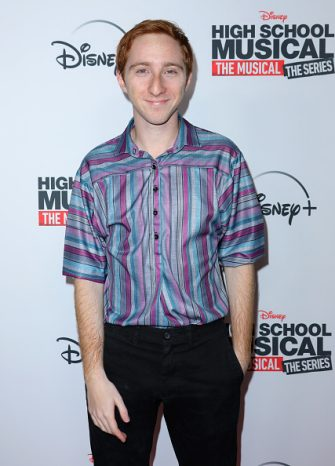 BURBANK, CALIFORNIA - NOVEMBER 01: Actor Larry Saperstein attends the premiere of Disney+'s 'High School Musical: The Musical: The Series' at Walt Disney Studio Lot on November 01, 2019 in Burbank, California. (Photo by JC Olivera/WireImage)