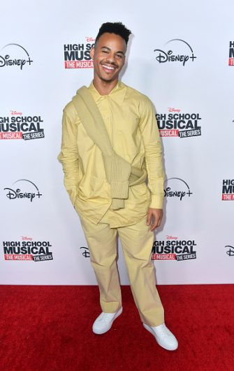 """BURBANK, CALIFORNIA - NOVEMBER 01: Mark St. Cyr attends the Premiere Of Disney+'s """"High School Musical: The Musical: The Series"""" at Walt Disney Studio Lot on November 01, 2019 in Burbank, California. (Photo by Frazer Harrison/Getty Images)"""