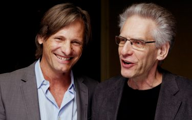 "TORONTO, CANADA-SEPTEMBER 11th, 2011 Director Michael Cronenberg(R) and actor Vitto Mortensen(L) share a laugh while posing for a photo at the Fairmont Royal York in Toronto on Sunday Sept.11th, 2011. Mortensen stars as Sigmund Freud in Cronenberg's new film ""A Deadly Method"" which is Screening at the Toronto International Film Festival. (Photo by Tobin Grimshaw for the Washington Post) (Sept. 11th, 2011)"
