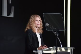 LOS ANGELES, CA - OCTOBER 15:  Mia Farrow speaks onstage during ELLE's 25th Annual Women In Hollywood Celebration presented by L'Oreal Paris, Hearts On Fire and CALVIN KLEIN at Four Seasons Hotel Los Angeles at Beverly Hills on October 15, 2018 in Los Angeles, California.  (Photo by Stefanie Keenan/Getty Images for ELLE Magazine)