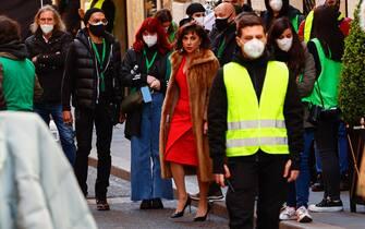 *NO WEB* *NO QUOTIDIANI. Roma. Set del film House of Gucci. Nella foto: Lady Gaga