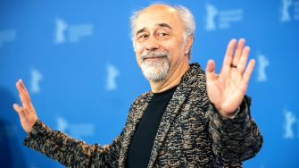 """21 February 2020, Berlin: 70th Berlinale, Photocall, Competition, """"Volevo nascondermi"""" (Hidden Away): Director Giorgio Diritti . The International Film Festival takes place from 20.02. to 01.03.2020. Photo: Michael Kappeler/dpa (Photo by Michael Kappeler/picture alliance via Getty Images)"""