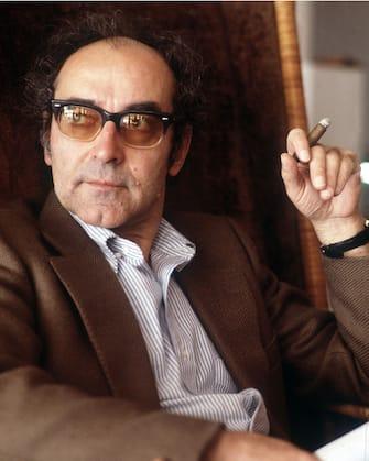 The French director Jean Luc Godard smoking a cigar. 1983 (Photo by Alberto Roveri/Mondadori via Getty Images)