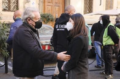 House of Gucci, Virginia Raggi sul set a Roma con Ridley Scott