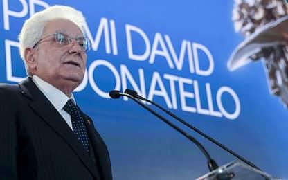 """David Donatello 2021, Mattarella: """"Istituzioni sostengano il cinema"""""""