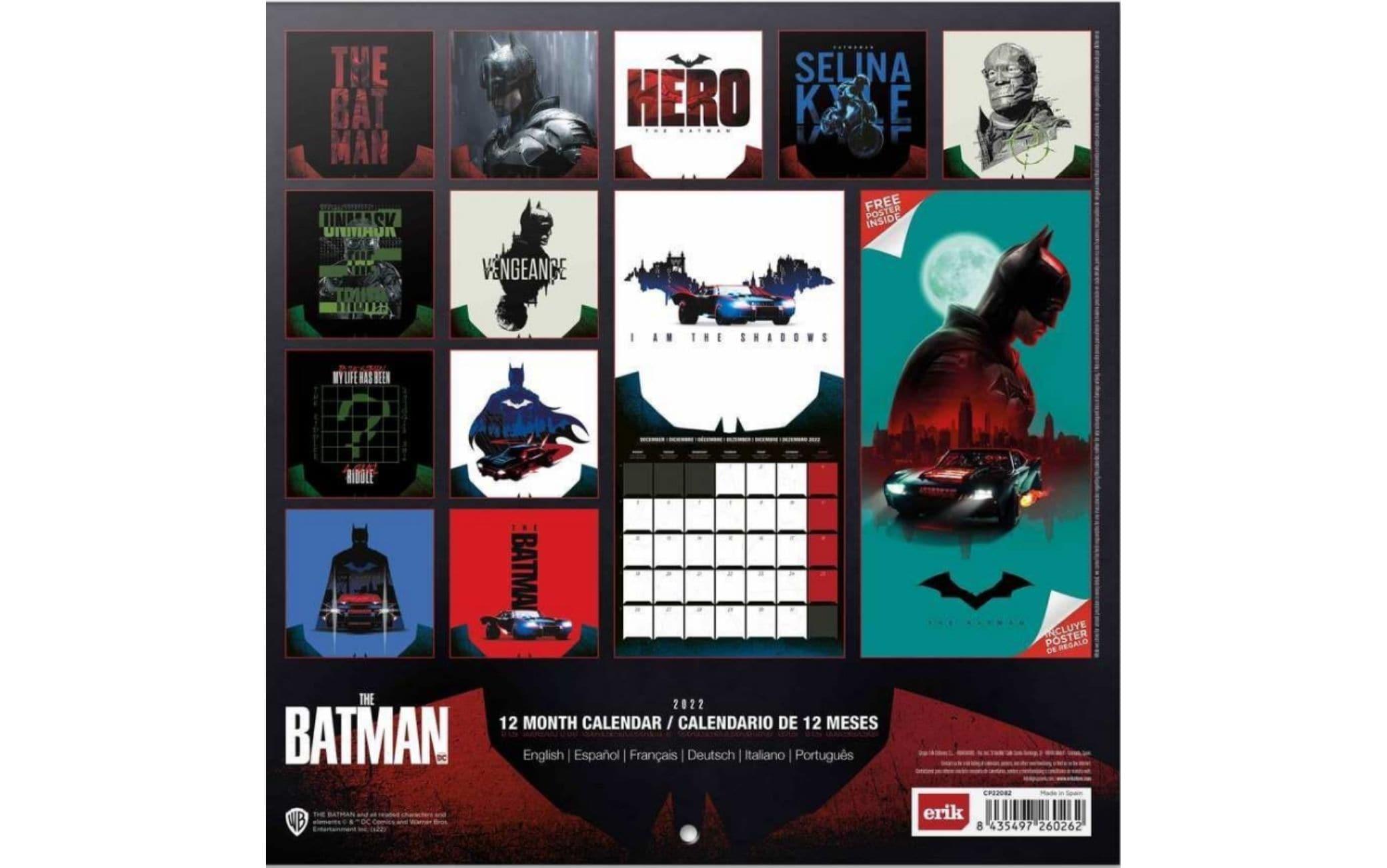 the batman calendario