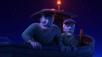 """BIG FISH – In Disney and Pixar's """"Luca,"""" fishermen see something unusual in the water. Is it a sea monster? Giacomo Gianniotti and Gino La Monica lend their voices to the fishermen. Directed by Academy Award® nominee Enrico Casarosa (""""La Luna"""") and produced by Andrea Warren (""""Lava,"""" """"Cars 3""""), """"Luca"""" debuts on Disney+ on June 18, 2021. © 2021 Disney/Pixar. All Rights Reserved."""