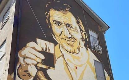 Alberto Sordi è il Marchese del Grillo in nuovo murale a Roma
