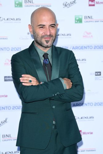 ROME, ITALY - JUNE 22: Giuliano Sangiorgi attends the Nastri D'Argento 2021 red carpet on June 22, 2021 in Rome, Italy. (Photo by Daniele Venturelli/Daniele Venturelli/WireImage )