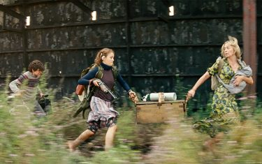 USA. Emily Blunt, Noah Jupe, and Millicent Simmonds  in a scene from the ©Paramount Pictures new movie: A Quiet Place: Part II (2020). Plot:  Following the events at home, the Abbott family now face the terrors of the outside world. Forced to venture into the unknown, they realize the creatures that hunt by sound are not the only threats lurking beyond the sand path.  Ref: LMK110-J7127-190521 Supplied by LMKMEDIA. Editorial Only. Landmark Media is not the copyright owner of these Film or TV stills but provides a service only for recognised Media outlets. pictures@lmkmedia.com