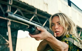 USA. Emily Blunt in a scene from the ©Paramount Pictures new movie: A Quiet Place: Part II (2020). Plot:  Following the events at home, the Abbott family now face the terrors of the outside world. Forced to venture into the unknown, they realize the creatures that hunt by sound are not the only threats lurking beyond the sand path.  Ref: LMK110-J7127-190521 Supplied by LMKMEDIA. Editorial Only. Landmark Media is not the copyright owner of these Film or TV stills but provides a service only for recognised Media outlets. pictures@lmkmedia.com