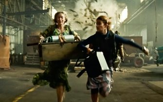 USA. Emily Blunt and Millicent Simmonds in a scene from the  (C)Paramount Pictures  new movie: A Quiet Place: Part II (2021). Plot:  Following the events at home, the Abbott family now face the terrors of the outside world. Forced to venture into the unknown, they realize the creatures that hunt by sound are not the only threats lurking beyond the sand path.  Ref: LMK110-J7127-190521 Supplied by LMKMEDIA. Editorial Only. Landmark Media is not the copyright owner of these Film or TV stills but provides a service only for recognised Media outlets. pictures@lmkmedia.com