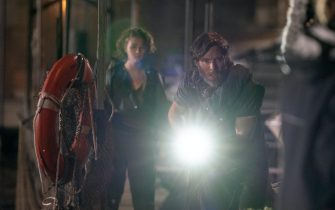 USA.  Millicent Simmonds and Cillian Murphy  in the (C)Warner Bros. new film : A Quiet Place Part II (2021) .  Plot: Following the events at home, the Abbott family now face the terrors of the outside world. Forced to venture into the unknown, they realize the creatures that hunt by sound are not the only threats lurking beyond the sand path.  Ref: LMK106-J7105-180521 Supplied by LMKMEDIA. Editorial Only. Landmark Media is not the copyright owner of these Film or TV stills but provides a service only for recognised Media outlets. pictures@lmkmedia.com