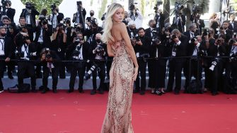 """CANNES, FRANCE - JULY 08: Frida Aasen attends the """"Stillwater"""" screening during the 74th annual Cannes Film Festival on July 08, 2021 in Cannes, France. (Photo by Vittorio Zunino Celotto/Getty Images for Kering)"""