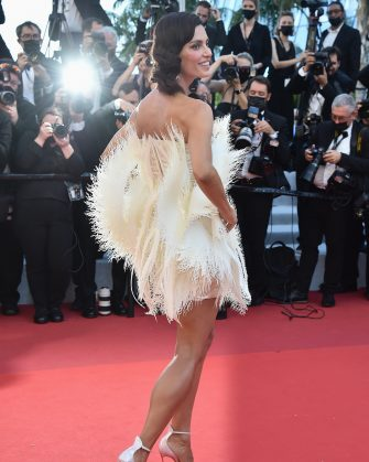 """CANNES, FRANCE - JULY 08: Catrinel Marlon attends the """"Stillwater"""" screening during the 74th annual Cannes Film Festival on July 08, 2021 in Cannes, France. (Photo by Dominique Charriau/WireImage)"""