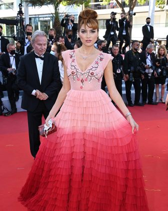 """CANNES, FRANCE - JULY 08: Blanca Blanco attends the """"Stillwater"""" screening during the 74th annual Cannes Film Festival on July 08, 2021 in Cannes, France. (Photo by Daniele Venturelli/WireImage)"""