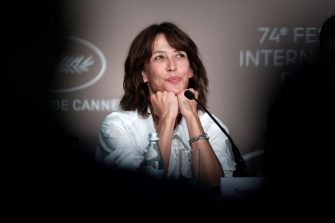 """CANNES, FRANCE - JULY 08: Sophie Marceau attends the """"Tout S'est Bien Passe (Everything Went Fine)"""" press conference during the 74th annual Cannes Film Festival on July 08, 2021 in Cannes, France. (Photo by Pool/Getty Images)"""