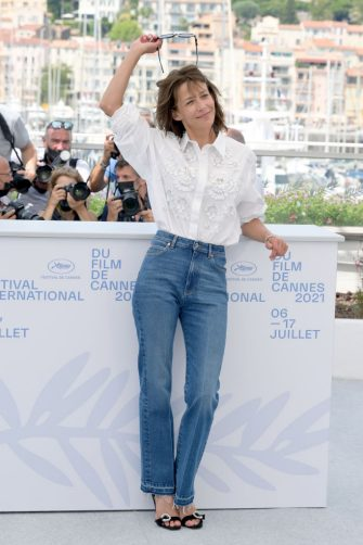 """CANNES, FRANCE - JULY 08: Sophie Marceau attends the """"Tout S'est Bien Passe (Everything Went Fine)"""" photocall during the 74th annual Cannes Film Festival on July 08, 2021 in Cannes, France. (Photo by Pascal Lionel Hahn/Getty Images)"""
