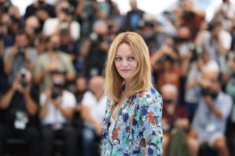 """French singer and actress Vanessa Paradis poses during a photocall for the film """"Cette Musique ne joue pour Personne"""" (Love Songs For Tough Guys) at the 74th edition of the Cannes Film Festival in Cannes, southern France, on July 10, 2021. (Photo by Valery HACHE / AFP) (Photo by VALERY HACHE/AFP via Getty Images)"""